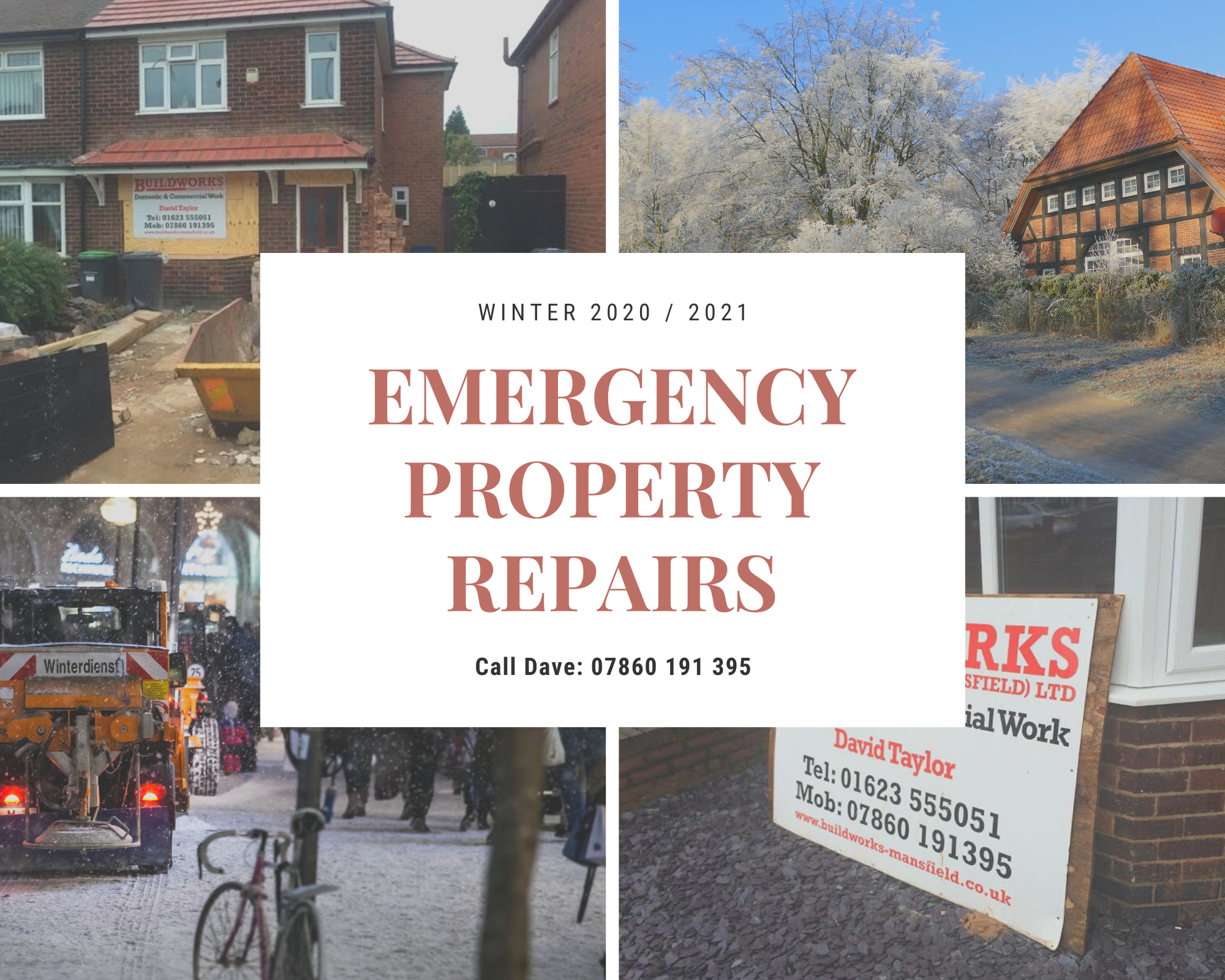 Emergency Property Repairs Mansfield Builder Sutton Kirkby Ashfield